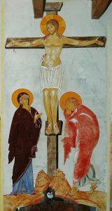 Mur Est: le christ en croix